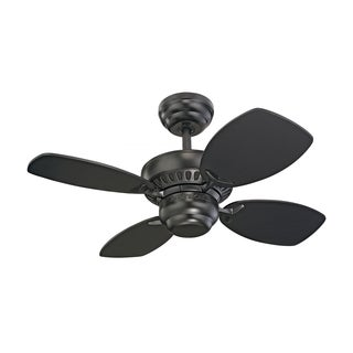 Monte Carlo Colony II Black 28-inch Ceiling Fan