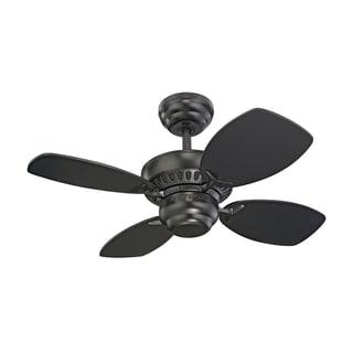 Monte Carlo Colony II Black 28-inch Ceiling Fan