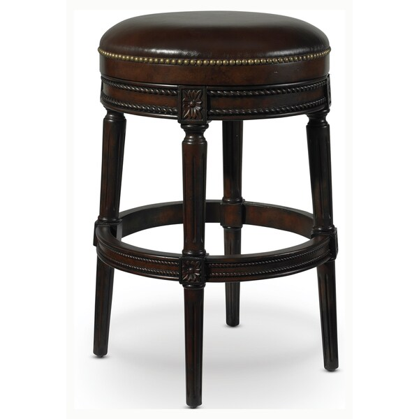D Art Xander Solid Wood Leather Counter Stool Indonesia