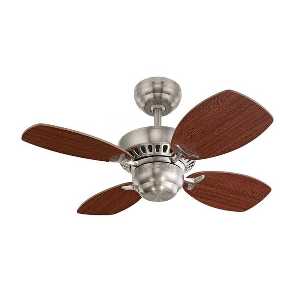 Monte Carlo Colony II Brushed Steel 28-inch Ceiling Fan