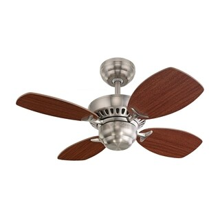 Monte Carlo Colony II Brushed Steel 28-inch Ceiling Fan