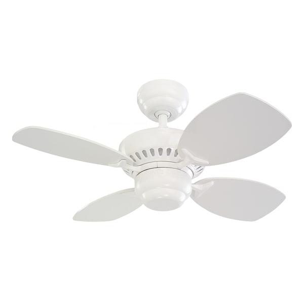"""Monte Carlo Colony II White 28-inch Ceiling Fan - 28"""" Colony II Fan"""