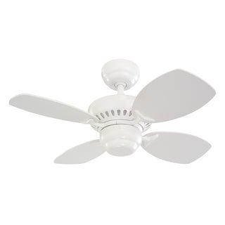 Monte Carlo Colony II White 28-inch Ceiling Fan