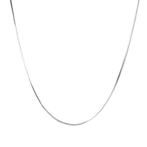 Pori Italian Sterling Silver Diamond-cut 8 Side Snake Chain Necklace