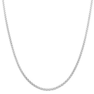 Pori Italian Sterling Silver Coreana Chain Necklace
