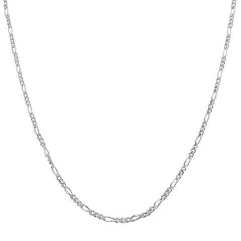 Pori Italian Sterling Silver Figaro Chain Necklace