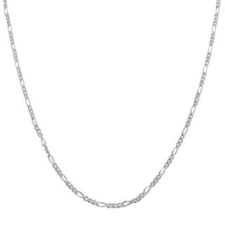 Pori Italian Sterling Silver Figaro Chain Necklace