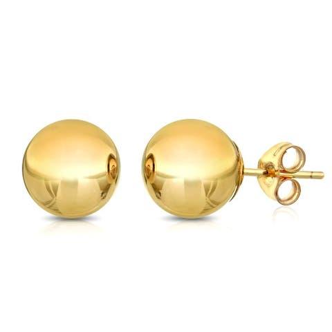 Pori Goldplated Sterling Silver 9Mm Ball Stud Earrings