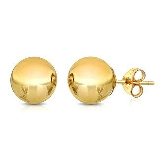 Pori Goldplated Sterling Silver 10Mm Ball Stud Earrings