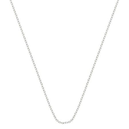 Pori Italian Sterling Silver Rolo Chain Necklace
