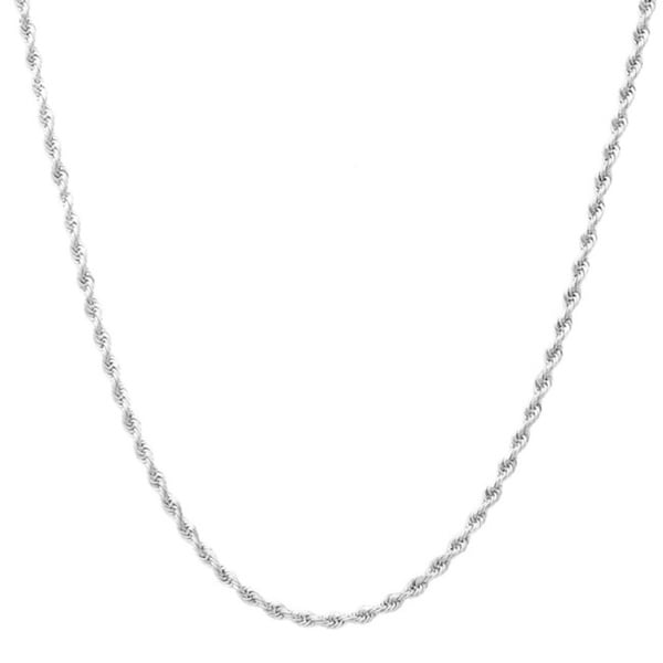Pori Italian Sterling Silver Rope Chain Necklace. Opens flyout.