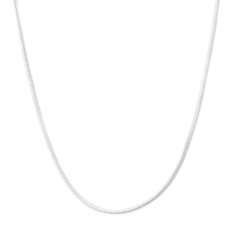 Pori Sterling Silver Italian Snake Chain Necklace