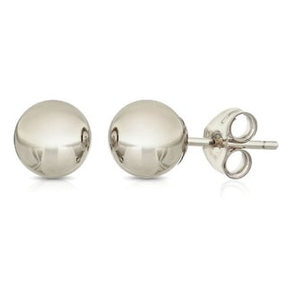 Pori Sterling Silver 4mm Ball Stud Earrings