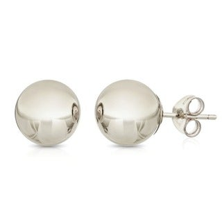 Pori Sterling Silver 10mm Ball Stud Earrings