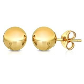 Pori Goldplated Sterling Silver 5Mm Ball Stud Earrings