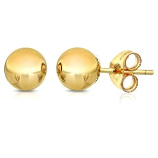 Pori 14k Goldplated Sterling Silver 2mm Ball Stud Earrings