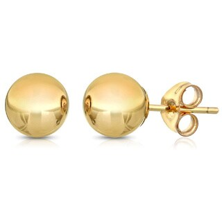 Pori Goldplated Sterling Silver 4Mm Ball Stud Earrings