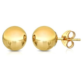Pori 14k Goldplated Sterling Silver 6mm Ball Stud Earrings