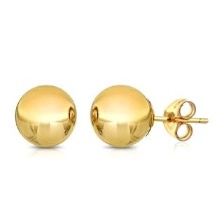 Pori 14k Goldplated Sterling Silver 7mm Ball Stud Earrings