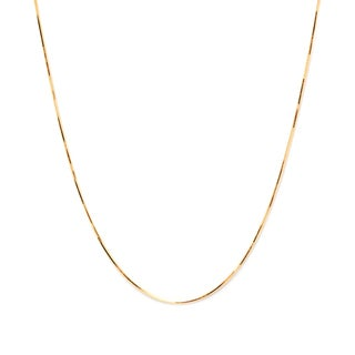 Pori Italian 14k Gold over Silver Diamond-cut Snake Chain Necklace
