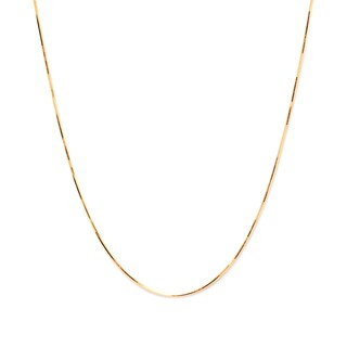 Pori Italian 14k Gold over Silver Diamond-cut Snake Chain Necklace (2 options available)