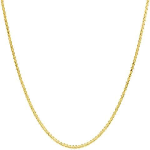 Pori Italian 14k Goldplated Sterling Silver Box Chain Necklace