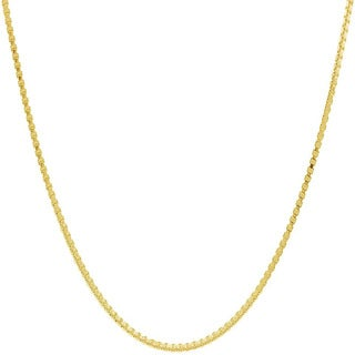 Pori Italian Goldplated Sterling Silver Box Chain Necklace (4 options available)