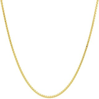 Pori Italian Goldplated Sterling Silver Box Chain Necklace