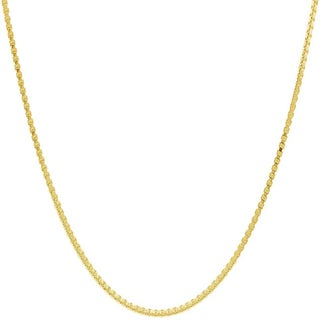 Pori Italian Goldplated Sterling Silver Box Chain Necklace (5 options available)
