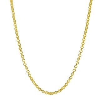 Pori Italian 14k Goldplated Sterling Silver Cable Chain Necklace