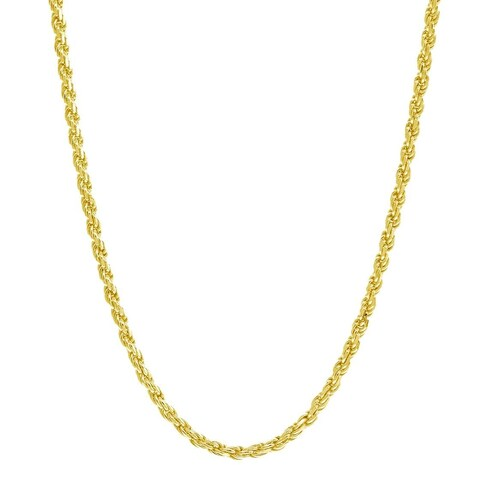 Pori Italian Goldplated Sterling Silver Rope Chain Necklace