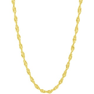 Pori Italian 14k Goldplated Sterling Silver Singapore Chain Necklace