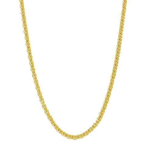 Pori Italian 14k Goldplated Sterling Silver Coreana Popcorn Chain Necklace