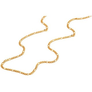 Pori Italian Goldplated Sterling Silver Figaro Chain Necklace