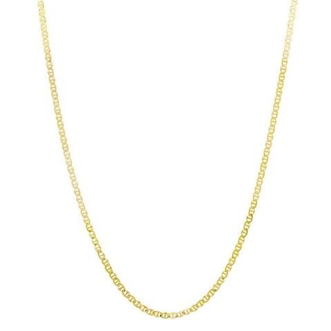 Pori Goldplated Sterling Silver Italian Marina Chain Necklace