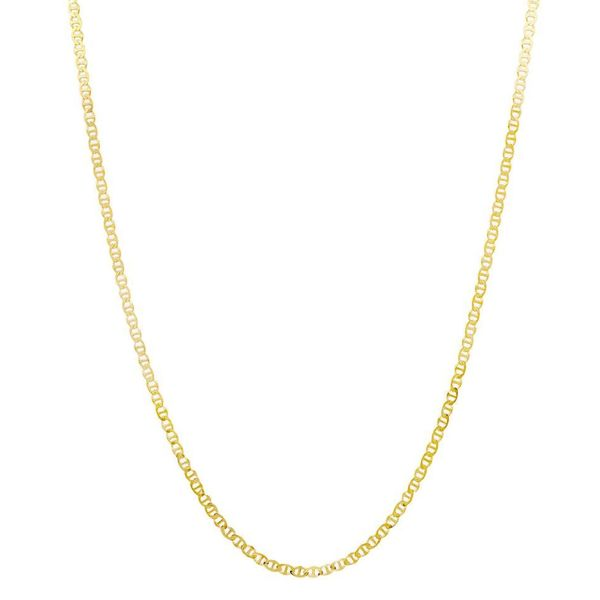 acd389d48bb Shop Pori 14k Goldplated Sterling Silver Italian Marina Chain ...