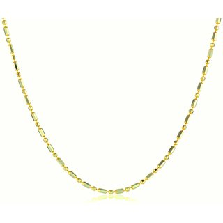 Pori Italian Goldplated Sterling Silver Bead 1+1 Chain Necklace