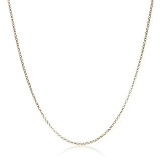 Pori Italian 14k Goldplated Sterling Silver Rolo Chain Necklace