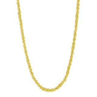 Pori 14k Goldplated Sterling Silver Italian Twisted Roc Chain Necklace