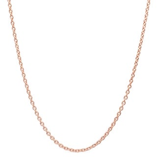 Pori Italian Rose Goldplated Sterling Silver Cable Chain Necklace