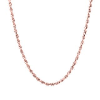 Pori Italian 14k Rose Goldplated Sterling Silver Rope Chain Necklace