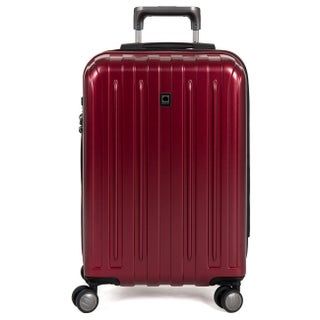 DELSEY Paris Helium Titanium 20.5-inch Expandable Hardside Carry-On Spinner Trolley Suitcase (Option: Red)
