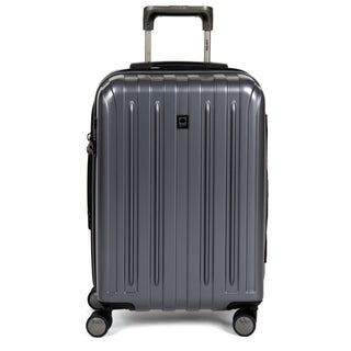 DELSEY Paris Helium Titanium 20.5-inch Expandable Hardside Carry-On Spinner Trolley Suitcase (Option: Grey)