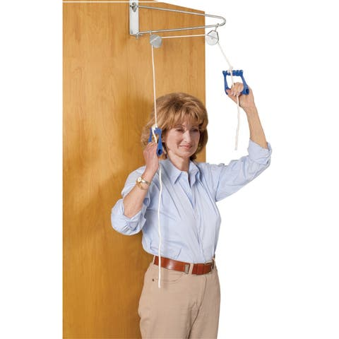 Drive Medical Over Door Exercise Pulley - Silver