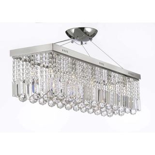 Contemporary 10-light Crystal Modern Linear Chandelier Pendant Light Fixture