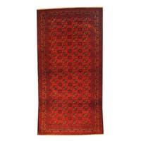 Handmade Herat Oriental Afghan 1960s Semi-antique Tribal Balouchi Wool Rug (Afghanistan) - 3'4 x 6'6
