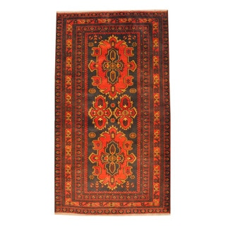 Handmade One-of-a-Kind Balouchi Wool Rug (Afghanistan) - 3'8 x 6'6