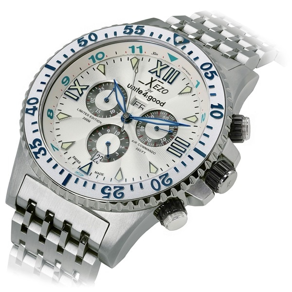 Shop xezo for unite 4 good men 39 s air commando limited edition swiss chronograph watch free for Xezo watches