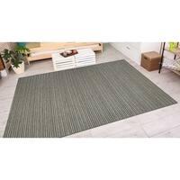 Vector Tybee Black-Gold Indoor/Outdoor Area Rug - 3'11 x 5'6