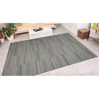 Couristan Cape Hyannis/Black-Tan Indoor/Outdoor Area Rug - 3'11 x 5'6